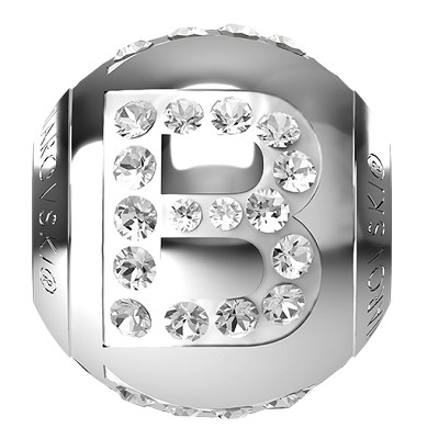 Swarovski BeCharmed 82201 Letter Bead 12x11mm: B