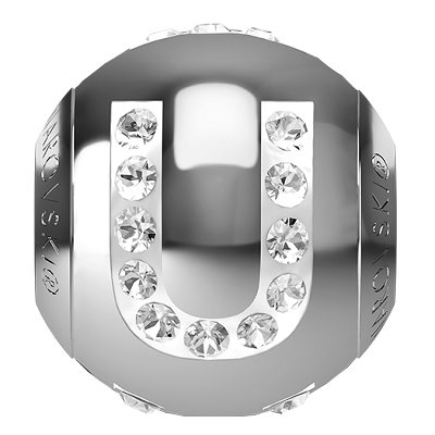 Swarovski BeCharmed 82201 Letter Bead 12x11mm: U