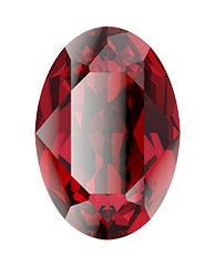 Swarovski 4120 Oval Fancy Stone 18x13mm Scarlet