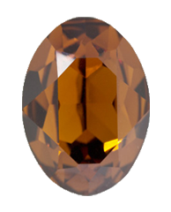 Swarovski 4120 Oval Fancy Stone 18x13mm Smoked Topaz