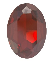 Swarovski 4127 Large Oval Fancy Stone 30x22mm Crystal Red Magma