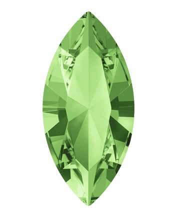 Swarovski 4228 Xilion Navette Fancy Stone 15x7mm Peridot (144 Pieces)