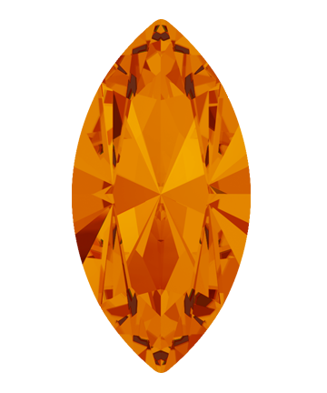 Swarovski 4228 Xilion Navette Fancy Stone 15x7mm Tangerine (144 Pieces)