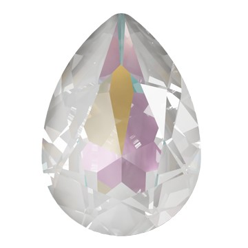 Swarovski 4320 Pear Fancy Stone 14x10mm Crystal Light Grey DeLite (144 Pieces)