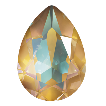 Swarovski 4320 Pear Fancy Stone 14x10mm Crystal Ochre DeLite (144 Pieces)