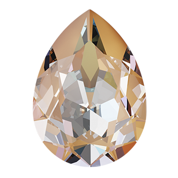 Swarovski 4320 Pear Fancy Stone 14x10mm Crystal Peach DeLite (144 Pieces)