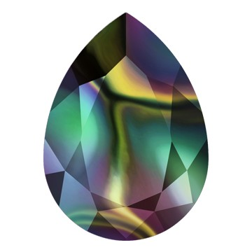 Swarovski 4320 Pear Fancy Stone 18x13mm Crystal Rainbow Dark