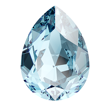 Swarovski 4320 Pear Fancy Stone 14x10mm Aqua (144 Pieces)