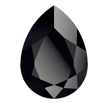 Swarovski 4320 Pear Fancy Stone 10x7mm Jet (144 Pieces)