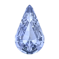 Swarovski 4328 Xilion Pear Fancy Stone 13x7.8mm Light Sapphire (144 Pieces)