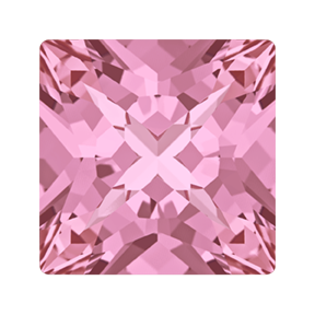 Swarovski 4418 Xilion Pointed Square Fancy Stone 6mm Light Rose (216 Pieces)