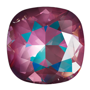 Swarovski 4470 Cushion Cut Square Fancy Stone 12mm Crystal Burgundy DeLite