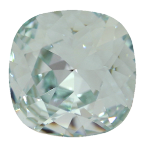 Swarovski 4470 Cushion Cut Square Fancy Stone 12mm Light Azore