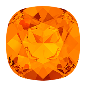 Swarovski 4470 Cushion Cut Square Fancy Stone 10mm Tangerine