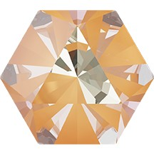 Swarovski 4699 Kaleidoscope Hexagon Fancy Stone 6x6.9mm Crystal Peach DeLite (144 Pieces)