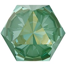 Swarovski 4699 Kaleidoscope Hexagon Fancy Stone 9.4x10.8mm Crystal Silky Sage DeLite (48 Pieces)