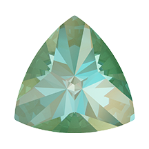 Swarovski 4799 Kaleidoscope Triangle Fancy Stone 9.2x9.4mm Crystal Silky Sage DeLite (48 Pieces)