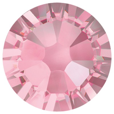 Swarovski 2038 Hot Fix Xilion Flatback Rhinestones SS 8 Light Rose (1,440 Pieces)