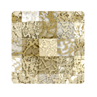 Swarovski 2493 Hot Fix Chessboard Square Flatback Rhinestones 10mm Crystal Gold Patina (144 Pieces)