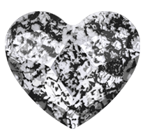 Swarovski 2808 Hot Fix Heart Flatback Rhinestones 14mm Crystal Black Patina (96 Pieces)