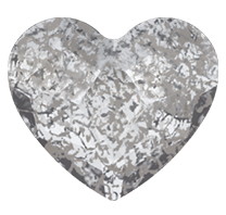 Swarovski 2808 Hot Fix Heart Flatback Rhinestones 14mm Crystal Silver Patina (96 Pieces)