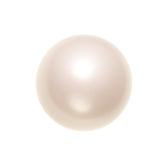 Swarovski 5810 Crystal Round Pearl 4mm Creamrose Light