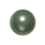 Swarovski 5811 Crystal Round Large Hole Pearl 10mm Dark Green (100 Pieces)