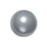 Swarovski 5811 Crystal Round Large Hole Pearl 10mm Grey (100 Pieces)