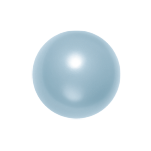 Swarovski 5810 Crystal Round Pearl 10mm Light Blue