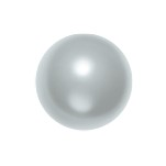 Swarovski 5810 Crystal Round Pearl 4mm Light Grey