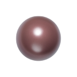 Swarovski 5811 Crystal Round Large Hole Pearl 14mm Maroon (50 Pieces)