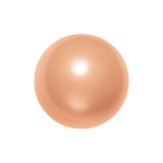 Swarovski 5818 Crystal 1/2 Drilled Round Pearl 10mm Peach (100 Pieces)