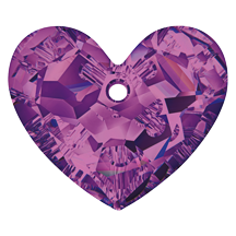 Swarovski 6264 Truly In Love Heart 18mm Amethyst