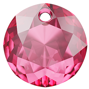 Swarovski 6430 Classic Cut Pendant 14mm Rose