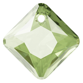 Swarovski 6431 Princess Cut Pendant 9mm Peridot