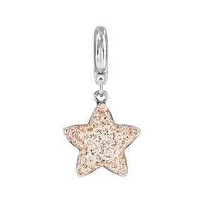 Swarovski 86512 BeCharmed Pave Star Charm 14mm Silk and Light Peach (12 Pieces)