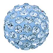 Swarovski 86001 Pave Ball 6mm Light Sapphire (12 Pieces)