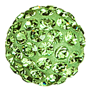 Swarovski 86001 Pave Ball 8mm Peridot (12 Pieces)
