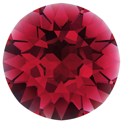 Swarovski 1028 Xilion Pointed Back Chaton PP9 Ruby (1,440 Pieces)