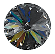Swarovski 1122 Rivoli 12mm Black Diamond