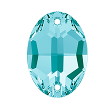 Swarovski 3210 Oval Sew-On 24x17mm Light Turquoise (24 Pieces)