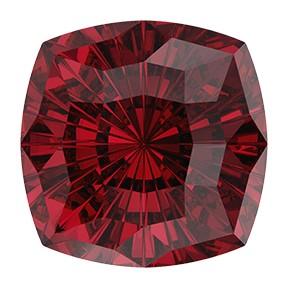 Swarovski 4460 Mystic Square Fancy Stone 14mm Scarlet (24 Pieces)